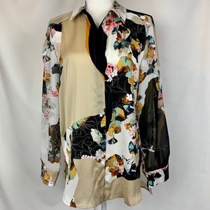 Phillip Lim Floral Long Sleeved Blouse NWT